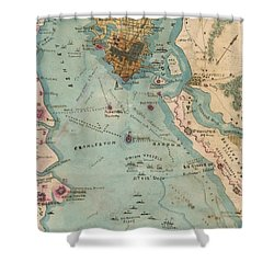 Rebel Defenses Of Charleston Harbor Shower Curtain