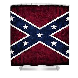 Rebel Flag Shower Curtain by Daniel Hagerman