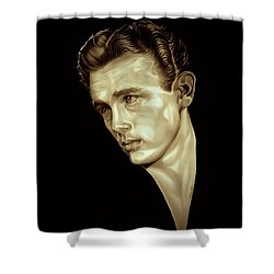 Rebel Shower Curtain by Fred Larucci
