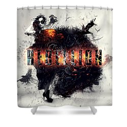 Shower Curtain featuring the digital art Rebellion by Mo T