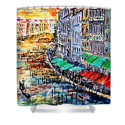 Shower Curtain featuring the painting Recalling Venice 03 by Alfred Motzer