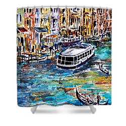 Shower Curtain featuring the painting Recalling Venice 04 by Alfred Motzer