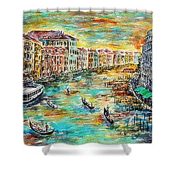 Shower Curtain featuring the painting Recalling Venice by Alfred Motzer