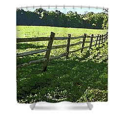 Shower Curtain featuring the photograph Receding Summer by Betsy Zimmerli