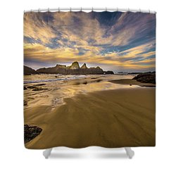 Receding Tide Shower Curtain
