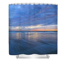 Receding Waves Oceanside Shower Curtain