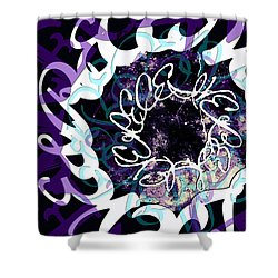 Receive And Believe In Black Shower Curtain