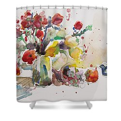 Reception Shower Curtain by Becky Kim