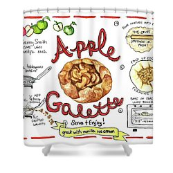 Recipe- Apple Galette Shower Curtain