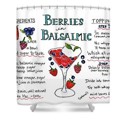 Recipe- Berries In Balsamic Shower Curtain