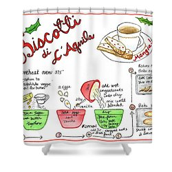 Recipe Biscotti Shower Curtain
