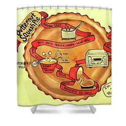 Recipe-butternut Squash Pie Shower Curtain