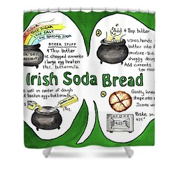 Recipe - Irish Soda Bread Shower Curtain