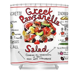 Recipe- Panzanella Salad Shower Curtain