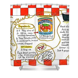 Recipe -spaghetti Sauce  Shower Curtain