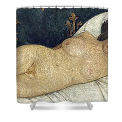 Reclining Female Nude Shower Curtain by Paula Modersohn-Becker