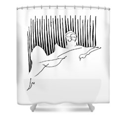 Reclining Lady Shower Curtain by Keith A Link
