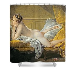 Reclining Nude Shower Curtain by Francois Boucher