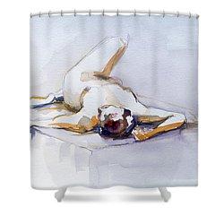 Reclining Study 6 Shower Curtain
