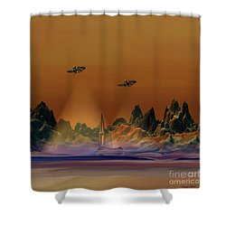 Recon Shower Curtain by Corey Ford