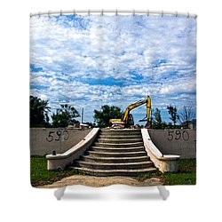 Reconstruction Shower Curtain by Christopher Holmes