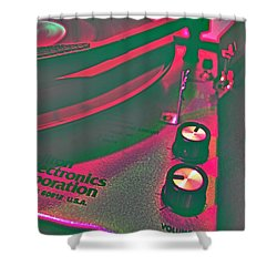 Record Player Shower Curtain