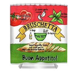 Recpe-bruschetta Shower Curtain