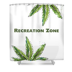 Recreation Zone Sign- Art By Linda Woods Shower Curtain by Linda Woods