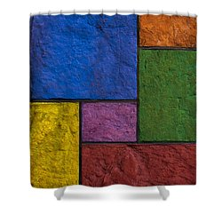 Rectangles Shower Curtain