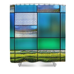 Rectangles Shower Curtain by Paul Wear