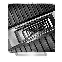 Rectangular Spiral Staircase Shower Curtain