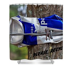 Shower Curtain featuring the photograph Recycle Please by Betty Northcutt