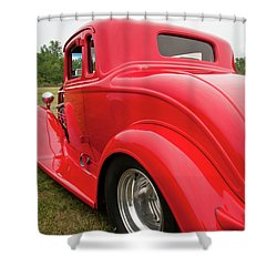 Red 1994 Shower Curtain by Guy Whiteley