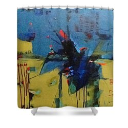 Red 35 Shower Curtain