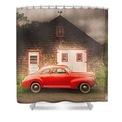 Red 41 Coupe Shower Curtain