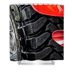 Shower Curtain featuring the photograph Red 4x4 by Brad Allen Fine Art