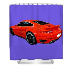 Red 911 Shower Curtain