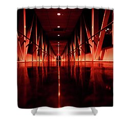 Red Alert Shower Curtain