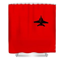 Red Alert Shower Curtain