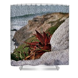 Red Aloe Vera By The Sea Shower Curtain