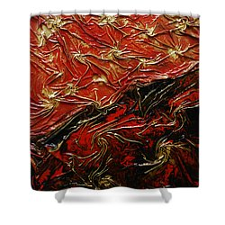 Red And Black Shower Curtain