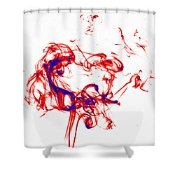 Red And Blue Twirrl Shower Curtain