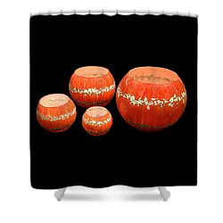 Red And White Bowls Shower Curtain