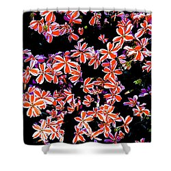Red And White Flowers Shower Curtain