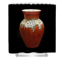 Red And White Vase Shower Curtain