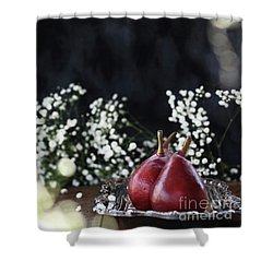 Shower Curtain featuring the photograph Red Anjou Pears by Stephanie Frey