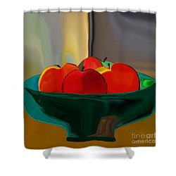 Red Apples Fruit Series Shower Curtain
