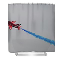 Red Arrow Blue Smoke - Teesside Airshow 2016 Shower Curtain