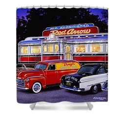 Red Arrow Diner Shower Curtain