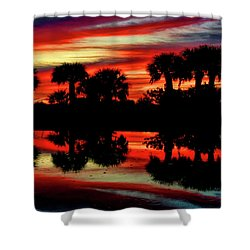 Red At Night Shower Curtain